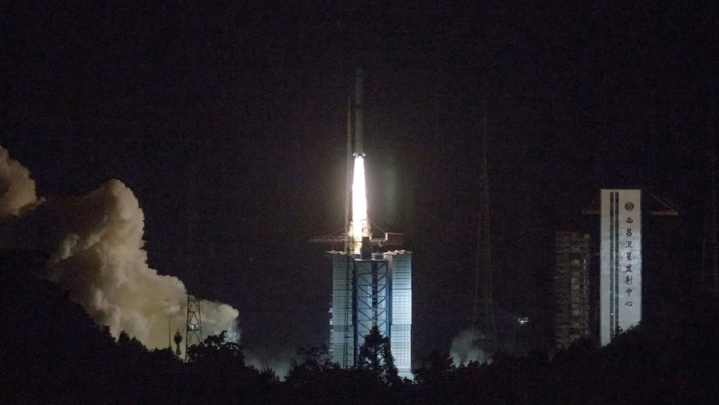 A Long March-4C rocket launches