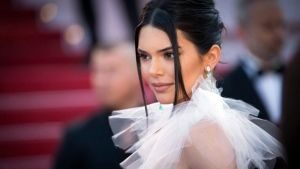 Model Kendall Jenner poses for photographers upon arrival at the premiere of the film 'Girls of The Sun' at the 71st international film festival, Cannes, southern France, Saturday, May 12, 2018. (Photo by Vianney Le Caer/Invision/AP)