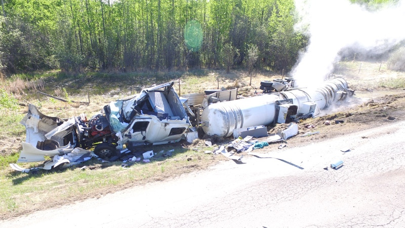 Semi crash
