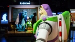 """Characters from the movies """"Monsters Inc."""" and """"Toy Story"""" are seen at a Pixar animation exhibition at Science World, in Vancouver, B.C., on Friday May 18, 2018. (THE CANADIAN PRESS/Darryl Dyck)"""