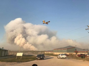 Hundreds were forced to evacuated their homes from Sapotaweyak Cree Nation following neighbouring forest fires. (Source: Leighanne Ravenek)