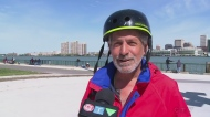 Don Martel is biking across Canada