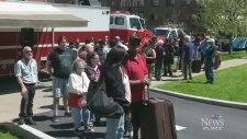 Displaced residents seek shelter as fatal fire inv