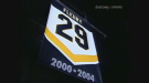 Marc-Andre Fleury's number 29 sweater was retired to the rafters inside Sydney's Centre 200 in 2008.