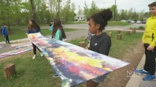 CTV Montreal: Artist in residence at school