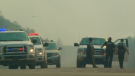 Smoke causing road closures around Prince Albert National Park