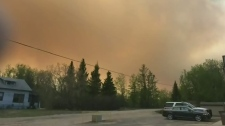 Smoke causing road closures around Prince Albert N