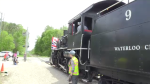 Train enthusiasts enjoyed a ride on an century-old steam train in St. Jacobs on Monday.
