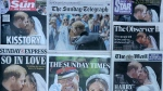 The Sun, shown among a selection of British newspaper front pages from the royal wedding, is reporting that Meghan Markle's nephew tried to take a knife into a London nightclub while citing the warning from U.S. President Donald Trump that the city is unsafe. (AP Photo/Kirsty Wigglesworth)