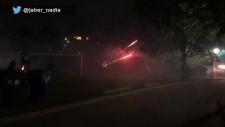 Christie Pits, fireworks