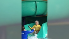 93-year-old women conquers fear of water