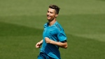 Real Madrid's Cristiano Ronaldo runs along the pitch during a training session in the open media day at the team's Veldebebas training ground in Madrid, Tuesday, May 22, 2018. (AP Photo/Francisco Seco)