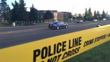 EPS closed a section of 144 Ave. near 92 St., after a child was struck by a vehicle on Monday, May 21, 2018.