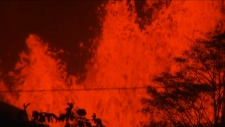 Lava spews from ground in Hawaii
