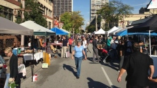 The Downtown Windsor Farmers' Market in Windsor, Ont., on Oct. 7, 2018. (Chris Campbell / CTV Windsor)