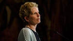 Ontario Liberal Party Leader Kathleen Wynne speaks during a campaign stop in Toronto on Monday, May 21, 2018. THE CANADIAN PRESS/Cole Burston
