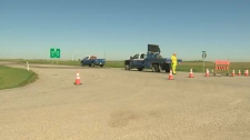 The highway was closed for several hours on Tuesday morning following a fatal crash.