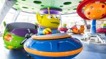 This undated photo provided by Walt Disney World shows the Alien Swirling Saucers attraction that will be part of the new Toy Story Land when it opens June 30, 2018 at Disney's Hollywood Studios in Lake Buena Vista, Fla. (Matt Stroshane/Walt Disney World via AP)