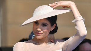 Meghan, the Duchess of Sussex, at her first royal engagement since her wedding to Prince Harry on Saturday. (Dominic Lipinski/Pool Photo via AP)