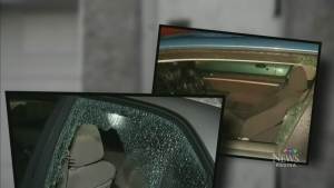 Police are looking for suspects after car windows