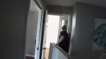 Surveillance footage obtained by renter Brandon Fielding shows his landlord and other men during an illegal eviction in Surrey.