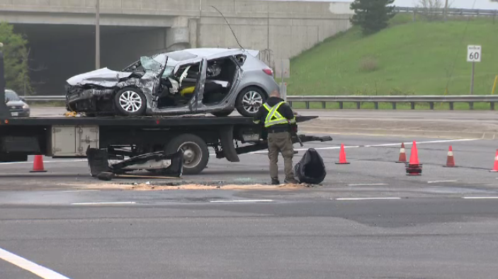 Police say one person was hurt following a collision on Fairway Road in Kitchener on Tuesday.