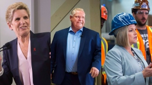 Ontario political party leaders campaign around the GTA on May 22, 2018. (Chris Young/Nathan Denette/THE CANADIAN PRESS)