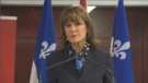 The Minister Responsible for Quebec's Anglo Secretariat, Kathleen Weil, was on-hand at McGill University Wednesday to announce the near-million dollar investment to study and attempt to correct the problem of a post-grad exodus in Quebec. (CTV Montreal)