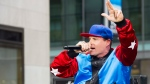 "Vanilla Ice performs on NBC's ""Today"" Halloween show on Thursday, Oct. 31, 2013 in New York. (Photo by Charles Sykes/Invision/AP)"