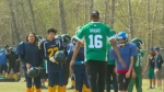 Saskatchewan Roughriders in La Ronge, SK
