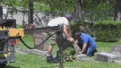 Repairs slow after 150 tombstones toppled