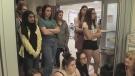 Teens watch trauma simulation at HSN