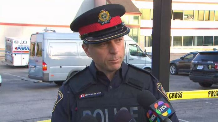 Halton Regional Police Inspector Anthony Odoardi updates reporters after a three-year-old boy was found in a hot vehicle in Burlington, Ont. The child was pronounced dead at the scene.