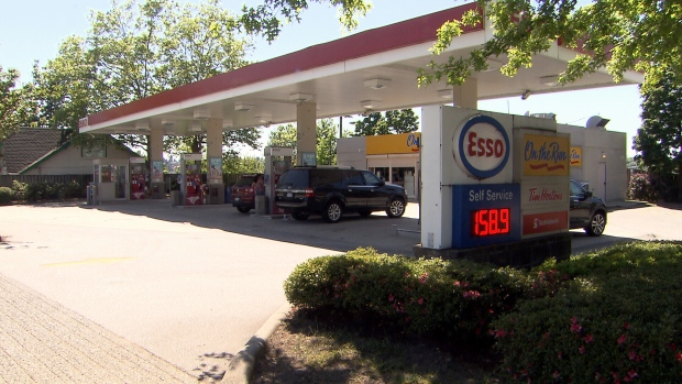 An Esso station is shown in Vancouver on Wednesday, May 23, 2018.