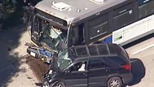 Several injured in crash involving transit bus