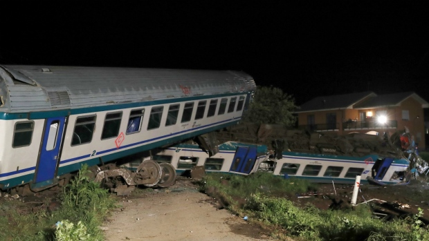Train derailment in northern Italy kills 2, over a dozen Injured