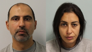 This undated Metropolitan Police photo shows Ouissem Medouni. A jury at London's Central Criminal Court convicted 40-year-old Ouissem Medouni and 35-year-old Sabrina Kouider on Thursday May 24, 2018 after six days of deliberation.  (Metropolitan Police via AP)