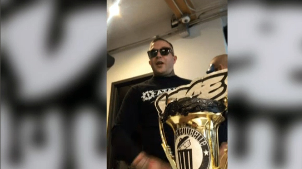 Raphael Levesque, leader of the anti-immigrant group Atalante Quebec, barged into the Montreal offices of Vice on Wednesday May 23, 2018 because he was upset about an article