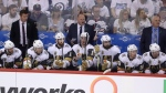 Vegas Golden Knights head coach Gerard Gallant shouts during the Western Conference Finals, game 5, in Winnipeg, on May 20, 2018. (Trevor Hagan / THE CANADIAN PRESS)