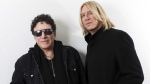 Journey lead guitarist Neal Schon, left, and Def Leppard singer Joe Elliot in New York, on Jan. 23, 2018. (Brian Ach / Invision / AP)