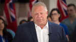 Ontario PC leader Doug Ford makes an announcement at the Advanced Medical Group building during a campaign stop in London, Ont., on Friday, May 18, 2018. THE CANADIAN PRESS/Andrew Ryan