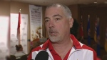 Michel Arsenault was interviewed by CTV News at a gymnastics event in March, 2011.