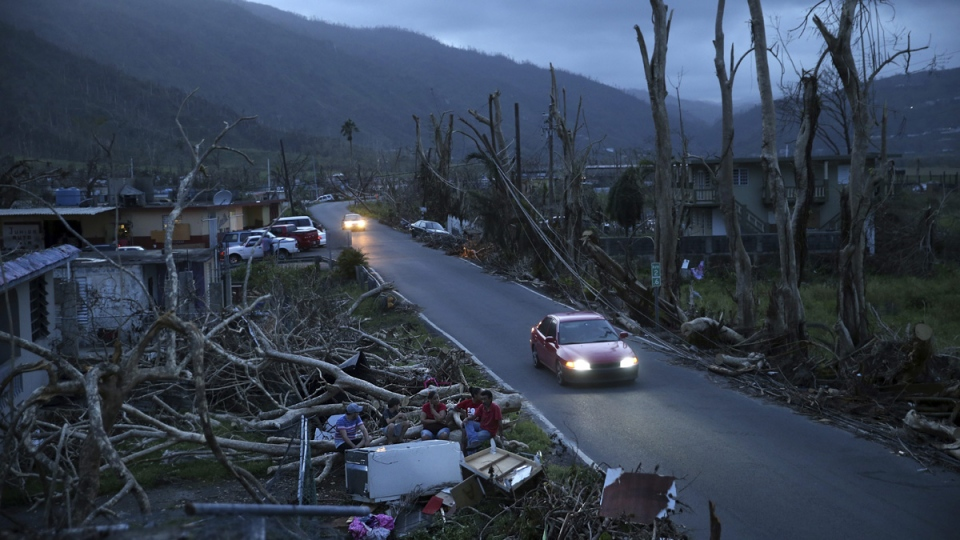 Aftermath of Hurricane Maria in 2017