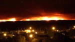 The fire as seen from Little Grand Rapids. (Source: Facebook/Cher Keesic-Swain)