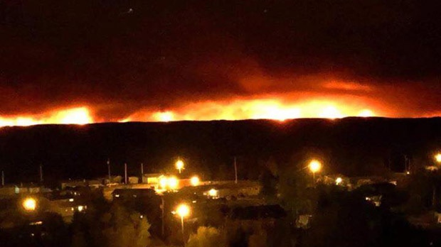 Image result for photos wildfires little grand rapids 2019