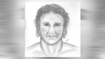 Composite sketch of the suspect in a May 18, 2018 sexual assault in Weaselhead Flats (CPS)