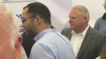 Allegations dog Ford at Brantford stop
