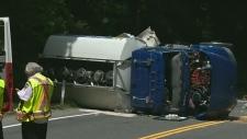 2 injured in truck crash that shut down Malahat