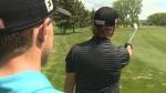 Calgary - blind golfer