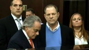 Harvey Weinstein makes a court appearance, Friday, May 25, 2018.
